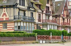 Stock Photo of house in Trouville sur Mer in Normandie
