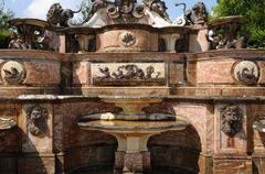 France, Buffet d Eau foutain in Grand Trianon - stock photo