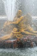France, Saturn fountain in the Versailles Palace park Stock Photos