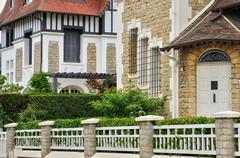 Stock Photo of city of Houlgate in Normandie