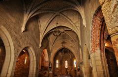 France, picturesque church of Saint Julien de Lampon in Dordogne - stock photo