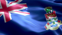 Flag Cayman Islands Stock Footage