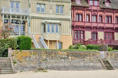 house in Trouville sur Mer in Normandie - stock photo