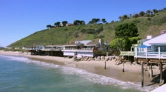 4K, UHD, Malibu Beach, Los Angeles, California, BlackMagic Production Camera Stock Footage