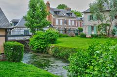 France, picturesque village of Ry in Seine Maritime Stock Photos