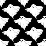 Stock Illustration of Danger ghosts seamless pattern