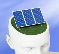 Stock Illustration of clean energy concept