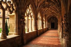 France, Cadouin abbey in Perigord Stock Photos