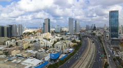 4k Tel aviv Skyline Stock Footage