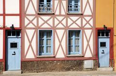 France, the village of Saint Martin la Garenne - stock photo