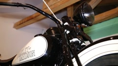 Part of vintage motorcycle Stock Footage
