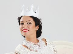 Stock Photo of Adult woman in crown