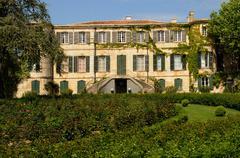 Stock Photo of historical Estoublon castle in Fontvieille