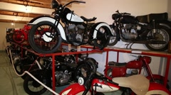 Museum of vintage motorcycles Stock Footage