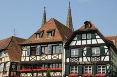 Stock Photo of picturesque old city of Obernai