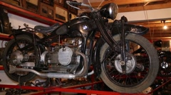 Black motorcycles, old timer Stock Footage