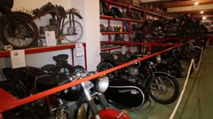 Vintage motorcycles collection Stock Footage