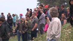 Mug bog off road 4x4 truck race in swamp Stock Footage