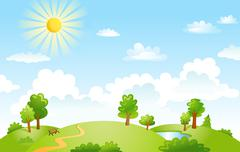 Vector illustration of beautiful landscape Stock Illustration