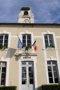 Ile de France, the city hall of Andelu in les Yvelines Stock Photos