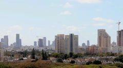 Tel Aviv skyline. Time lapse Stock Footage