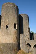 Castle of Villandraut in Gironde Stock Photos
