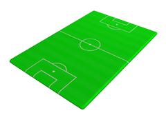 Stock Illustration of Soccer pitch angled