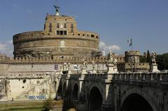 Sant Angelo castle in Rome Stock Photos