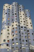 France, modern building in the Pablo Picasso district of Nanterr - stock photo