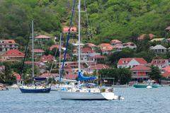 France, the archipelago of Les Saintesin caribbean sea Stock Photos