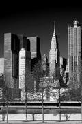 Manhattan skyline at sunrise New York City Kuvituskuvat