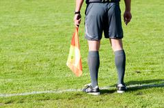 Football referee on the line Stock Photos