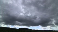 heavy clouds - timelapse - stock footage