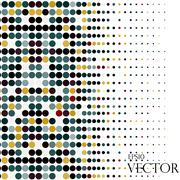 Background with the colored circles in a vector - stock illustration