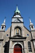 The chapel Notre Dame de Bon Secours in Montreal Stock Photos