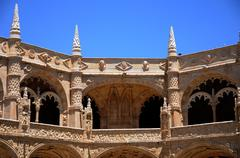 Stock Photo of Portugal, cloister of Jeronimos monastery in Lisbon
