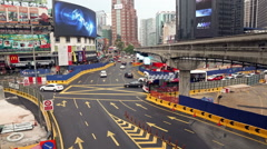 Kuala Lumpur Bukit Bintang intersection time lapse Stock Footage