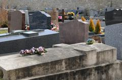 Val d Oise, old tomb in Courdimanche cemetery - stock photo