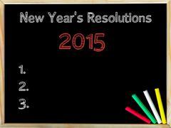 New Years Resolutions 2015 - stock photo