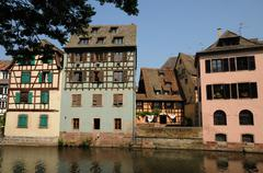 Stock Photo of old house in the district of La Petite France in Strasbourg