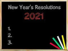 New Years Resolutions 2021 - stock photo