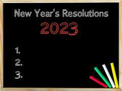 New Years Resolutions 2023 - stock photo