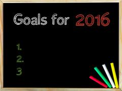 Goals for 2016 - stock photo