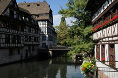 Old house in the district of La Petite France in Strasbourg Stock Photos