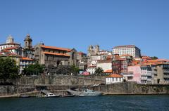 Stock Photo of Portugal, view of Porto from Douro river