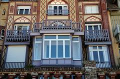 Normandie, a house in Trouville sur Mer - stock photo