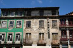 house in the city of Guimaraes in Portugal - stock photo