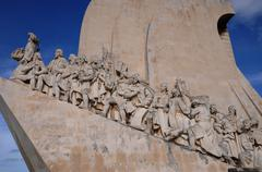 Portugal, Age of Discovery Monument in Lisbon Stock Photos