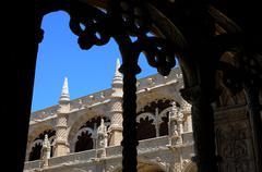 Portugal, cloister of Jeronimos monastery in Lisbon Stock Photos