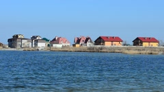 Sea and houses of people Stock Footage
